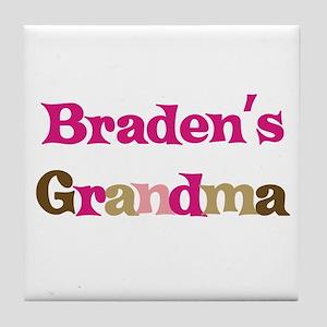 Braden's Grandma  Tile Coaster