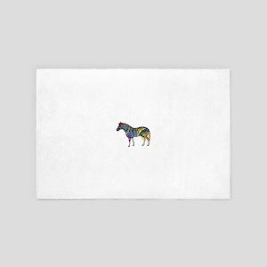 Rainbow Stripe Zebra 4' x 6' Rug