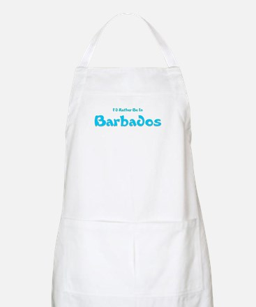 I'd Rather Be...Barbados BBQ Apron