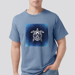 Navy & White Abstract Shell Sea Turtle T-Shirt