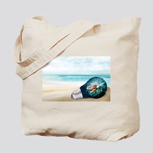 Turtle in a Light Bulb Tote Bag
