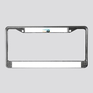 Turtle in a Light Bulb License Plate Frame