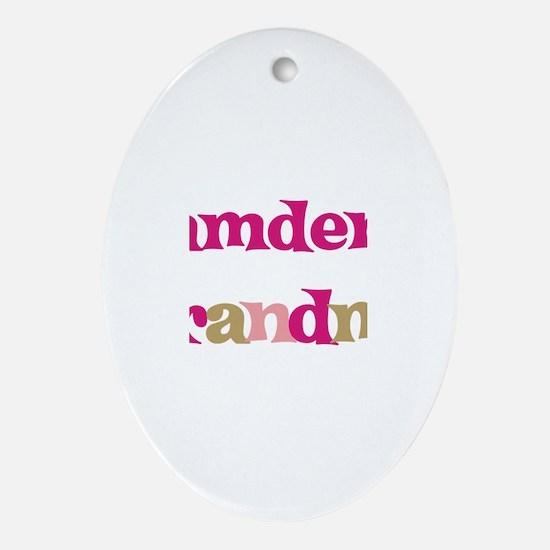 Camden's Grandma  Oval Ornament