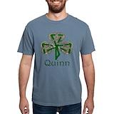 Quinn shamrock Comfort Colors Shirts