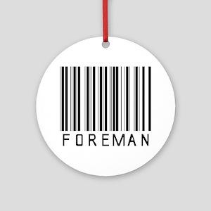 Foreman Barcode Ornament (Round)