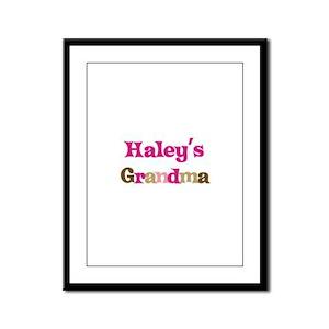 Haley's Grandma Framed Panel Print