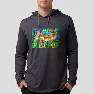 Watercolor Rainbow Fox Long Sleeve T-Shirt
