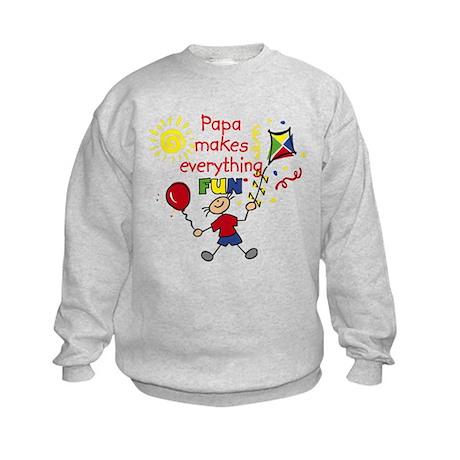 Papa Fun Boy Kids Sweatshirt