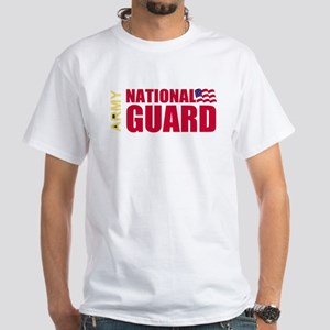 National Guard Retired<BR> White T-Shirt 3