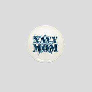 Proud Navy Mom Mini Button