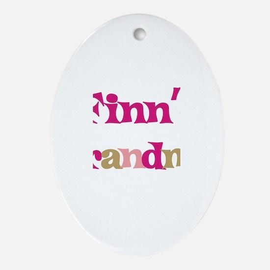 Finn's Grandma  Oval Ornament