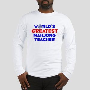 World's Greatest Mahjo.. (A) Long Sleeve T-Shirt