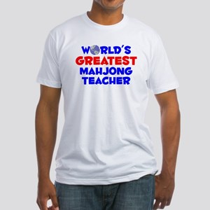 World's Greatest Mahjo.. (A) Fitted T-Shirt