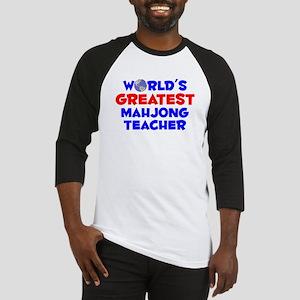 World's Greatest Mahjo.. (A) Baseball Jersey
