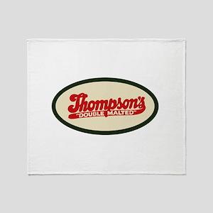 Thompson's Malted Milk logo Throw Blanket