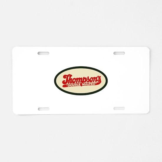 Thompson's Malted Milk logo Aluminum License Plate