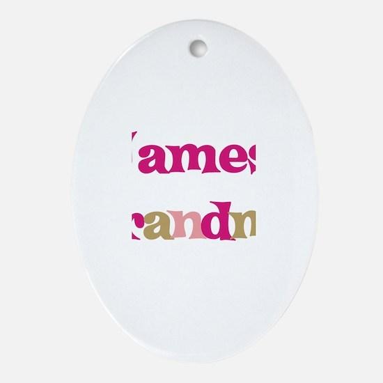 James's Grandma  Oval Ornament