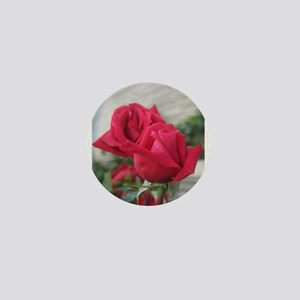 A001-RED ROSE Mini Button