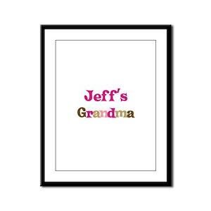 Jeff's Grandma  Framed Panel Print