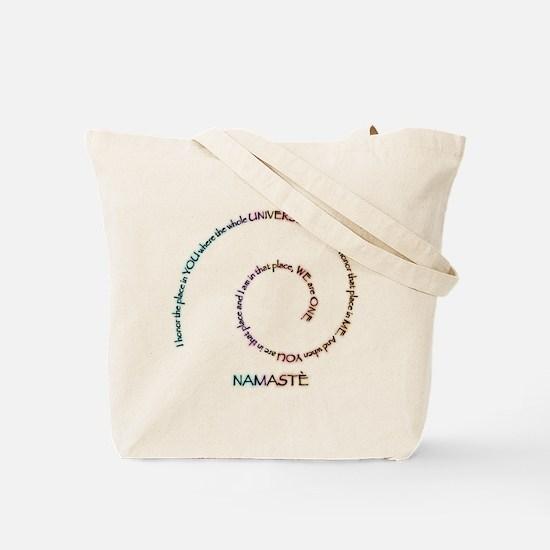 Bejeweled Lotus Flower Tote Bag