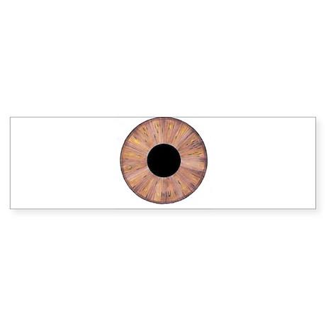 Brown Eyeball Bumper Sticker