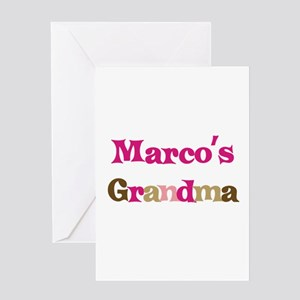 Marco's Grandma Greeting Card
