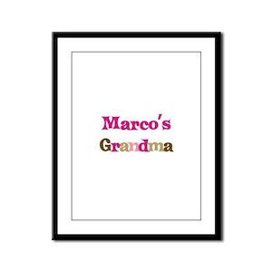 Marco's Grandma  Framed Panel Print