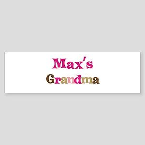 Max's Grandma Bumper Sticker