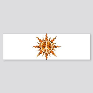 Flaming Peace Sun Bumper Sticker