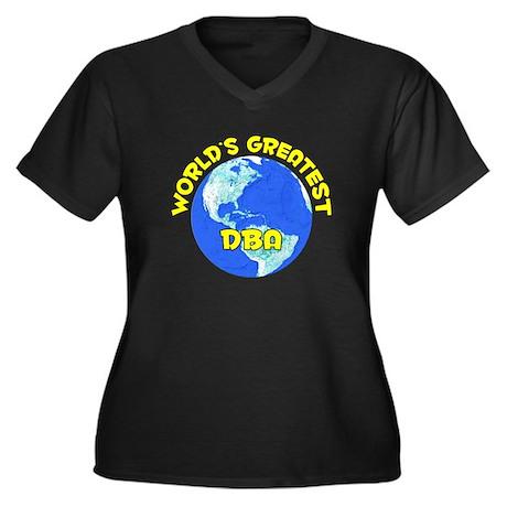 World's Greatest DBA (D) Women's Plus Size V-Neck