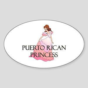 Puerto Rican Princess Oval Sticker