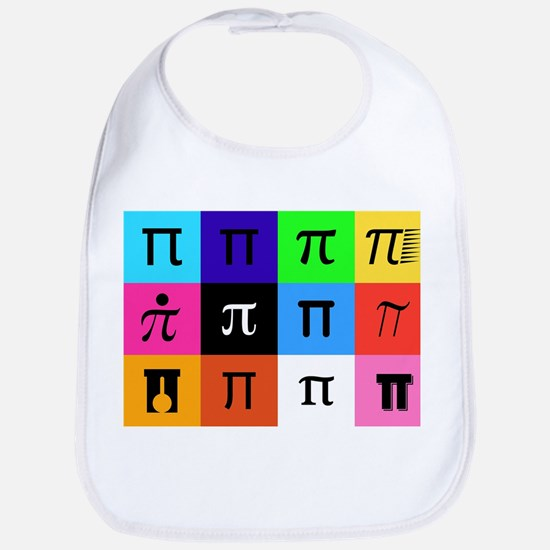 colorblock happy pi day Baby Bib