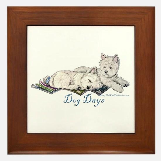 WestHighland White Terrier Da Framed Tile