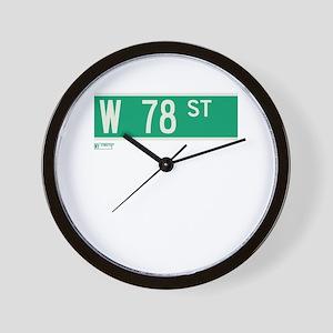 78th Street in NY Wall Clock