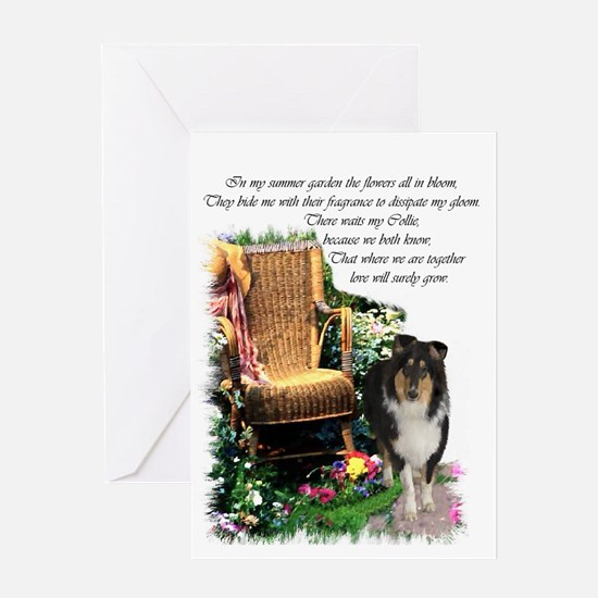 Tri-Color Collie Greeting Card