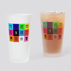 colorblock happy pi day Drinking Glass