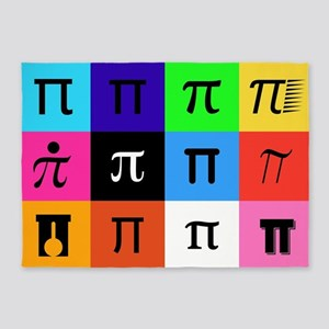 colorblock happy pi day 5'x7'Area Rug
