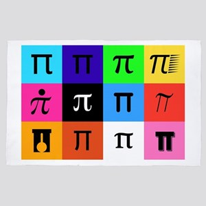 colorblock happy pi day 4' x 6' Rug