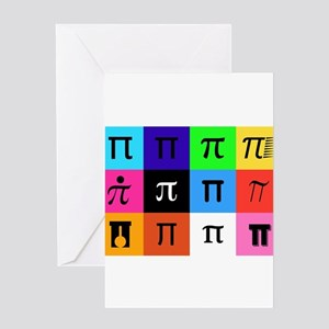 colorblock happy pi day Greeting Cards