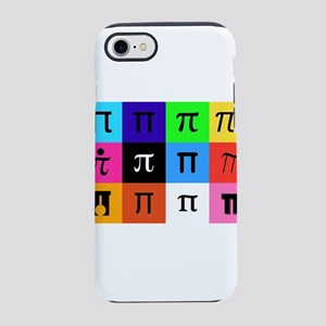 colorblock happy pi day iPhone 8/7 Tough Case