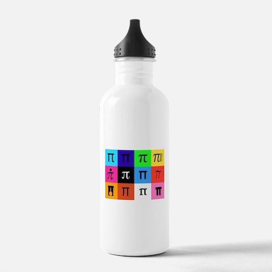colorblock happy pi da Water Bottle