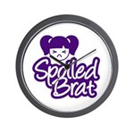 Spoiled Brat - Purple Wall Clock