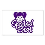 Spoiled Brat - Purple Rectangle Sticker