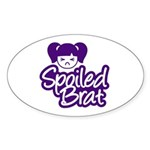 Spoiled Brat - Purple Oval Sticker