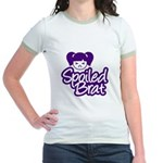 Spoiled Brat - Purple Jr. Ringer T-Shirt