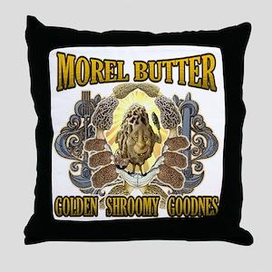 Morel mushroom butter gifts Throw Pillow