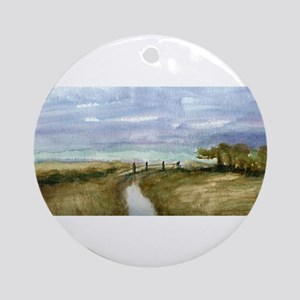 Country Lane Ornament (Round)