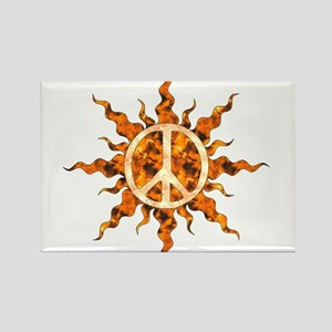 Flaming Peace Sun Magnets