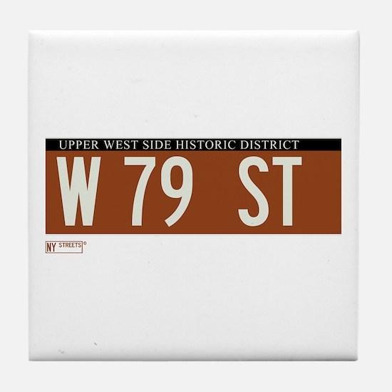 79th Street in NY Tile Coaster