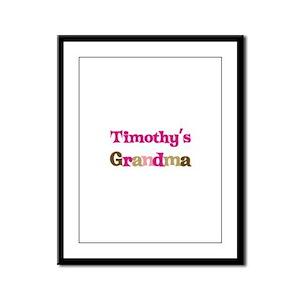 Timothy's Grandma  Framed Panel Print